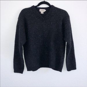 J. Crew | charcoal gray V-neck wool sweater